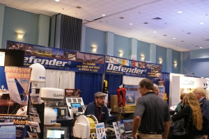 Defender Stand at Miami Boat Show